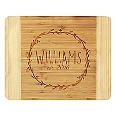 image of Stamp Out Circle Branch Wreath 11-Inch x 14-Inch Bamboo Cutting Board