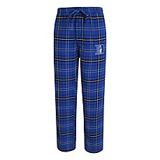 image of Duke University Men's Flannel Plaid Pajama Pant with Left Leg Team Logo