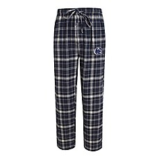 image of Penn State Men's Flannel Plaid Pajama Pant with Left Leg Team Logo