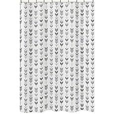 Sweet Jojo Designs Mod Arrow Shower Curtain In Grey