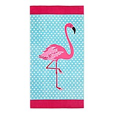 image of Global Flamingo Dots Beach Towel