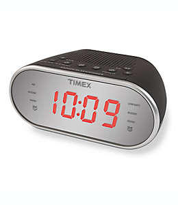 Radio despertador AM/FM Timex® en negro