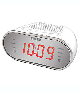 Radio despertador AM/FM Timex® en blanco