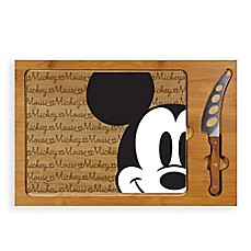 image of Picnic Time® Mickey Mouse™ Icon Wood Cutting Board & Knife Set