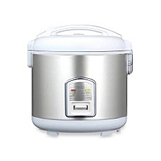 image of Oyama Model CFS-F18W 10-Cup Stainless Steel Rice Cooker/Warmer/Steamer