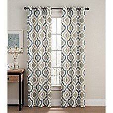 Cambree Ogee Grommet Window Curtain Panel Pair