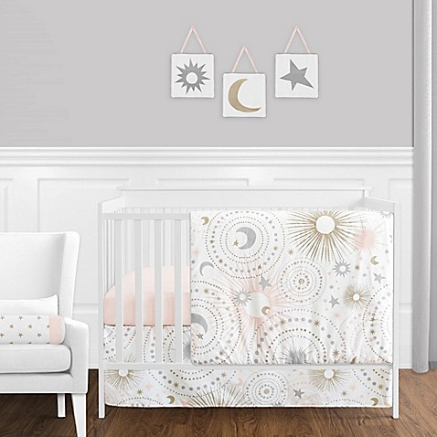 sweet jojo designs celestial crib bedding collection buybuy baby
