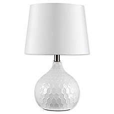 image of Globe Electric Caddie 17-Inch 1-Light LED Ceramic Table Lamp
