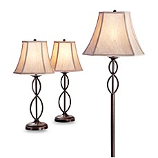 Lighting collection table floor lamp sets lamp shades bed image of 3 piece infinity lamp set with cfl bulb aloadofball