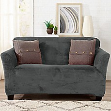 Image Of Great Bay Home Gale Strapless Loveseat Slipcover