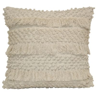 image of Shimmy Square Throw Pillow in Natural