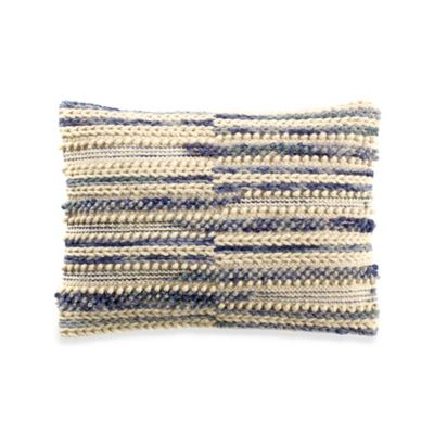 image of Camden Stripe Oblong Throw Pillow in Blue