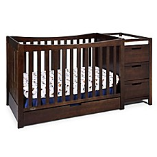 image of Graco® Remi 4-in-1 Convertible Crib and Changer in Espresso