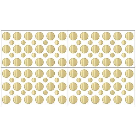 Sweet Jojo Designs Amelia Gold Polka Dot Wall Decal