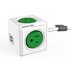 image of Allocacoc 4-Outlet Power Cube with USB Sockets and 5-Foot Cord