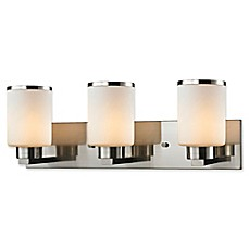 image of Filament Design Roxy Wall Mount Vanity Light with Matte Opal Glass Shades