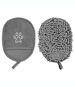 Guante de tela para limpieza Clean Pup Pawslife™ en gris, Set de 2