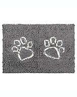 Tapete Pup de poliéster Pawslife™ Clean para puerta color gris