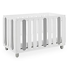 image of Status Sienna 3-in-1 Convertible Crib in White/Pebble Grey