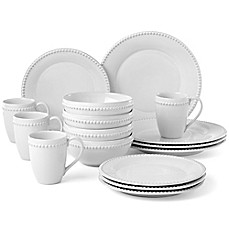image of Lenox® French Carved™ Pearl 16-Piece Dinnerware Set in White