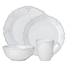 image of Lenox® French Carved™ Scalloped Dinnerware Collection in White