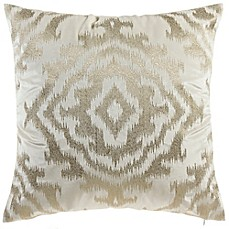 image of Cloud9 Design Ikat Metallic 22-Inch Square Throw Pillow in Ivory
