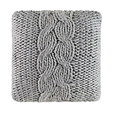 image of Cloud9 Design Chunky Knit 22-Inch Square Throw Pillow in Grey