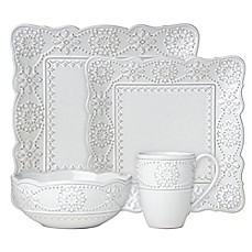 image of Lenox® French Carved™ Square Dinnerware Collection in White