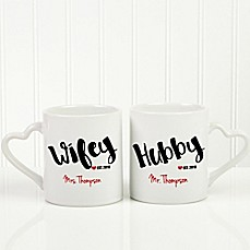 image of Wife & Hubby 2-Piece Mug Set