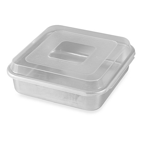 square wedding cake pans buy nordic ware 174 9 inch square aluminum cake pan with lid 20389