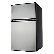 image of Midea Stainless Steel 3.1 cu. ft. Mini Refrigerator