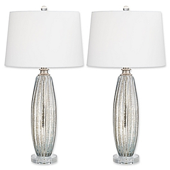 Image Of Pacific CoastR Lighting Sparrow Table Lamps In Champagne Set 2