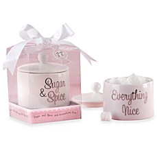 image of Kate Aspen® Sugar, Spice and Everything Nice Ceramic Sugar Bowl with Lid Baby Shower Favor