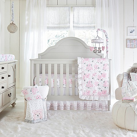 Wendy Bellissimou0026trade; Savannah Crib Bedding Collection In White/Pink