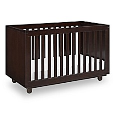 image of Storkcraft Status Violet 3-in-1 Convertible Crib in Espresso