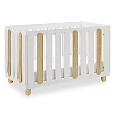 image of Status Sienna 3-in-1 Convertible Crib in White/Natural