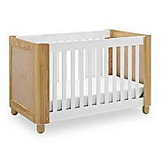 image of Status Roland 3-in-1 Convertible Crib in White/Natural