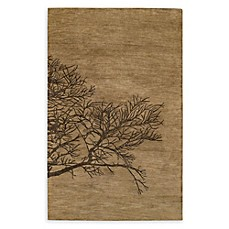 image of Capel Rugs Shadow Branch 8' x 11' Area Rug in Brown