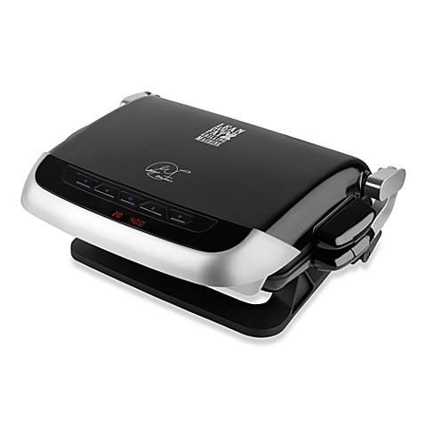 George Foreman® Kitchen Bistro G4 Grill with 4 Nonstick Removable Plates
