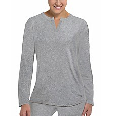 image of Copper Fit® Replenish Recovery Mini Henley Sleep Shirt