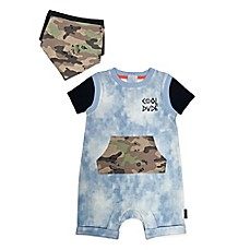 "image of Mini Heroes 2-Piece ""Cool Dude"" Denim Coverall and Bandana Set"