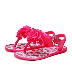 image of Stepping Stones Flower and Butterfly Glitter Jelly Sandal in Fuchsia