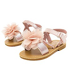 image of Stepping Stones Side Braid with Flower Sandal in Blush