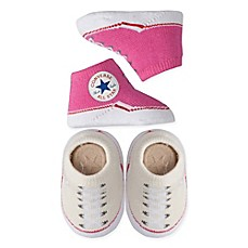 image of Converse 2-Pack Chuck Booties in Pink/Cream