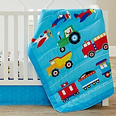 image of Olive Kids Trains, Planes, Trucks 3-Piece Crib Bedding Set