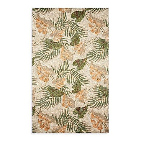 Ravella Tropical Leaf Indoor Outdoor Rug Bed Bath Amp Beyond