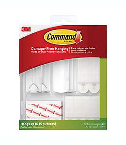 Kit de plástico 3M Command™ especial para colgar cuadros