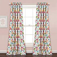 Lush Decor Mermaid Waves Rod Pocket Room Darkening Window Curtain Panel Pair