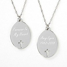 image of Forever In My Heart Memorial Pendant Necklace