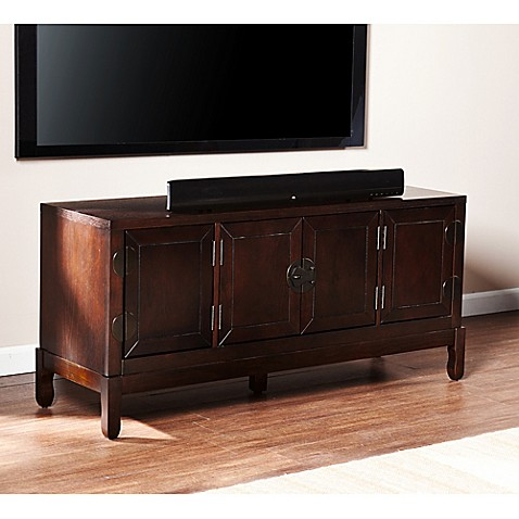 Southern Enterprises Dynasty Media Cabinet in Espresso